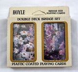 Vintage 1984 Hoyle Double Deck Bridge Floral Playing Card Set 1
