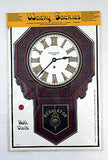 Vintage 1970's Wacky Tackies Wall Clock Sticky Back Vinyl Wall Decal Sticker