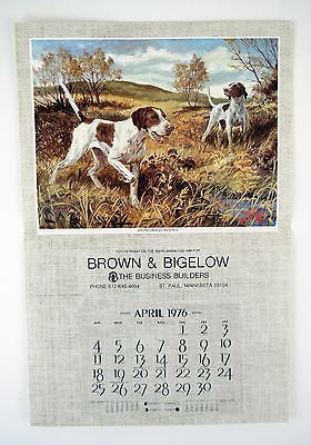 Vintage 1976 Stanford Fenelle Honored Point Calendar Print