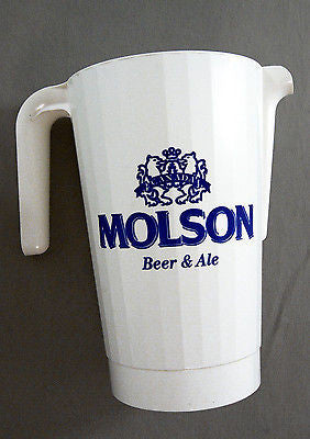 Vintage 1980's Molson Beer and Ale 1.5 Liter Pitcher