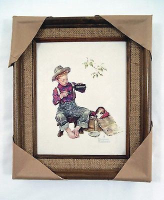 Vintage 1979 Norman Rockwell Mysterious Malady Framed Canvas Print