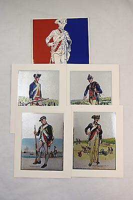 Vintage 1970's Tom Parker Continental Soldiers Color Foil Etch Four Print Set
