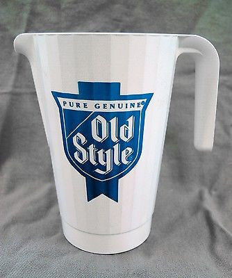 Vintage 1980's Old Style Beer 1.5 Liter Pitcher