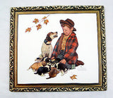 Vintage Norman Rockwell Pride of Parenthood Boy and His Dog Vacuum Form Print