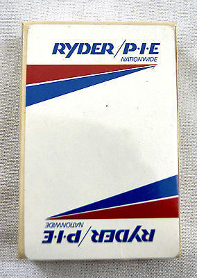 Vintage 1980's Ryder P.I.E. Nationwide Kent Brand Playing Cards