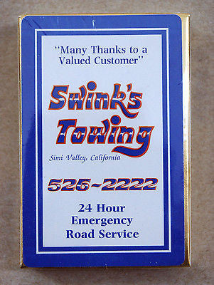 Vintage Swink's Towing Simi Valley California Playing Cards