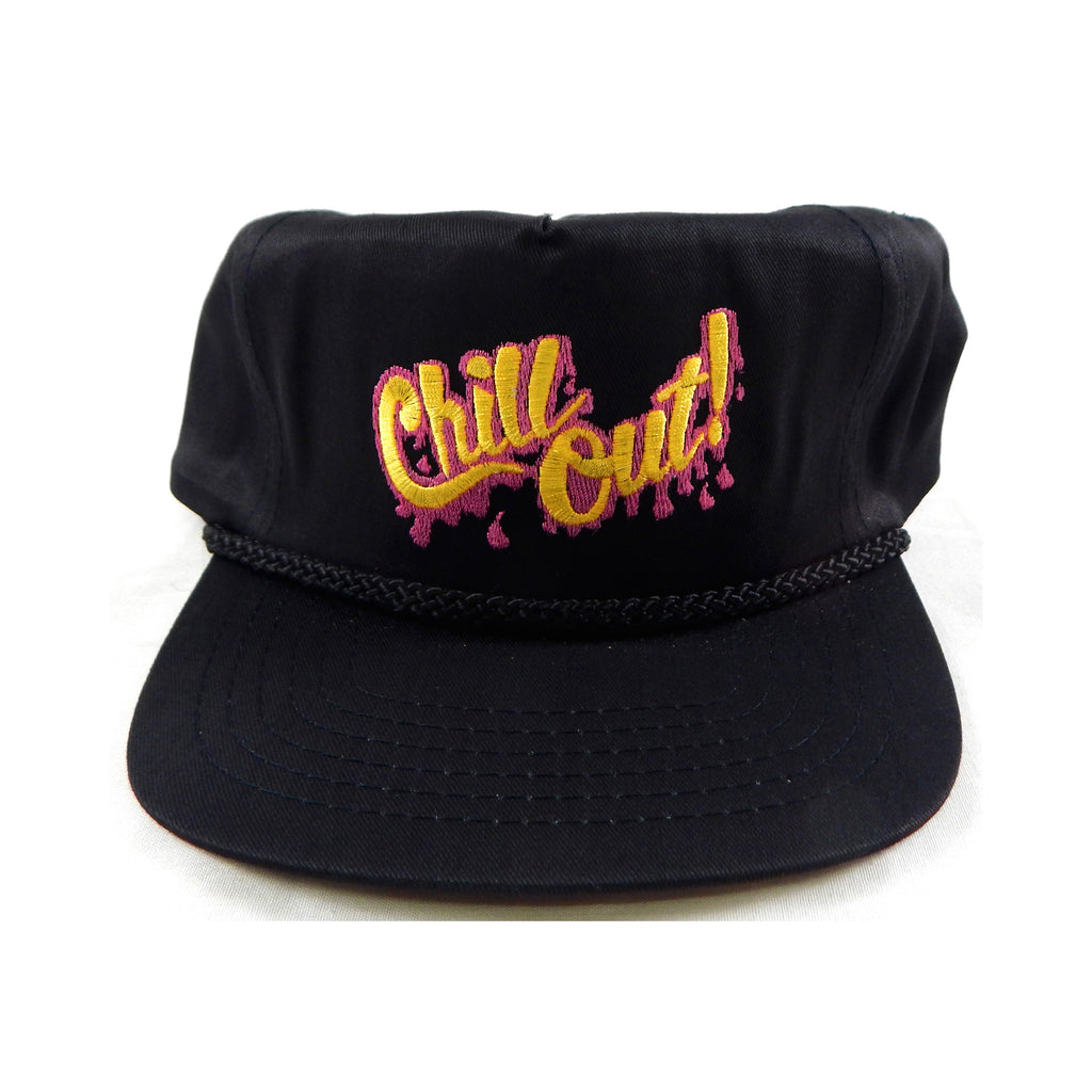 Vintage 1990's Chill Out! Black Baseball Hat