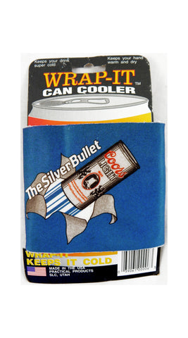 Vintage 1991 Coors Light The Silver Bullet Wrap It Can Cooler Koozie