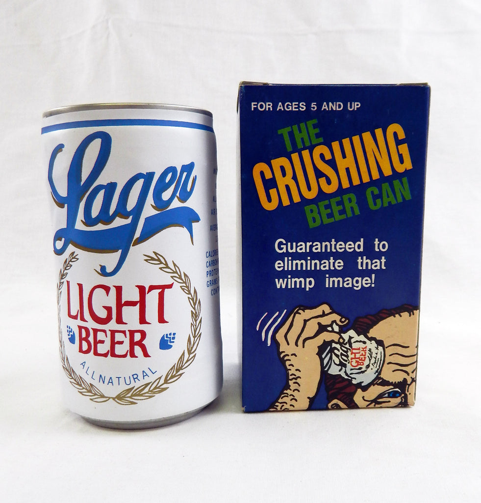 Vintage 1980's The Crushing Beer Can Novelty Lager Light Beer Can