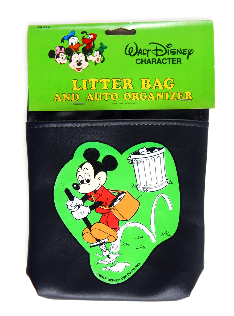 Vintage Walt Disney Character Mickey Mouse Litter Bag and Auto Organizer