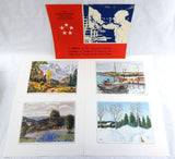 Vintage 1970 Eisenhower College Collection Print Portfolio 241-118X 4 Print Set
