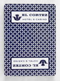 El Cortez Hotel and Casino Poker Size Blue Playing Cards
