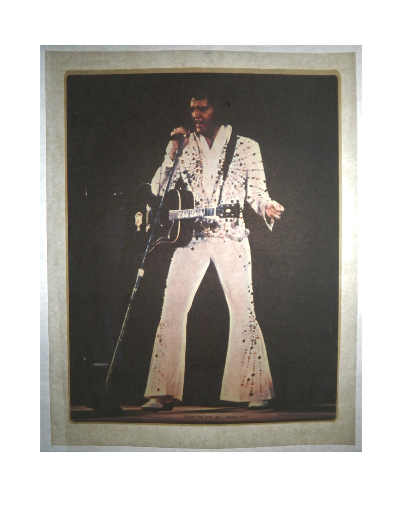 Vintage 1977 Elvis Presley Rhinestone Jumpsuit Iron On T shirt Transfer
