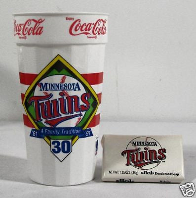 Vintage 1991 Minnesota Twins 30th Anniversary Cup and Soap Set