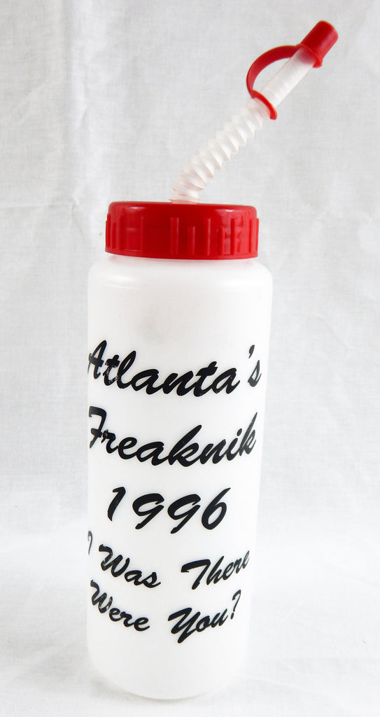 1996 Atlanta Freaknik I Was There Were You? Red Cap Water Bottle