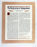 Vintage 1970's Historical Documents and Lincoln Speech 6 Print Set