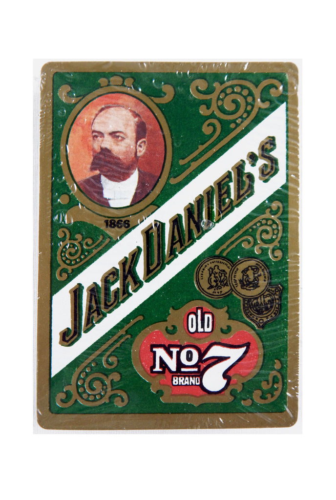 Vintage Jack Daniels Old Number 7 Oversized Green Poker Size Playing Cards