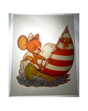 Vintage 1976 Tom and Jerry Sailor Jerry Mouse Iron On T shirt Transfer