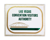 Vintage 1970's Las Vegas Convention Visitors Authority Sign