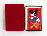 Vintage 1980's Disney Mickey Mouse Director Mickey Playing Cards