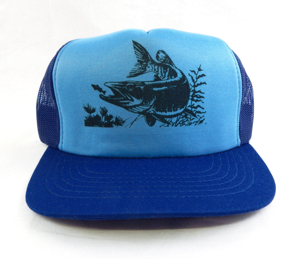 Vintage 1990's Northern Pike Two Tone Blue Mesh Trucker Hat