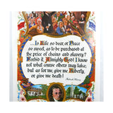 Vintage 1970's Patrick Henry Give Me Liberty Quote Large Format Poster Print