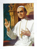 "Vintage 1960's George Prout ""His Holiness Pope Paul VI"" Embossed Print"