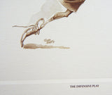 Vintage 1980's Roger Martin The Offensive Play The Defensive Play Tennis Print