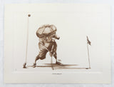 Vintage 1980's Roger Martin Putting Through Golf Print