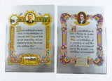 Vintage Teddy Roosevelt and Thomas Paine Famous Quotes Color Foil Etch Print Set