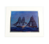 Vintage 1973 William Nowland Van Powell U.S. Ships of 76 Foil Etch Print Set
