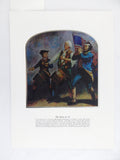 Vintage The Spirit of 76 American Revolution Color Foil Etch Print