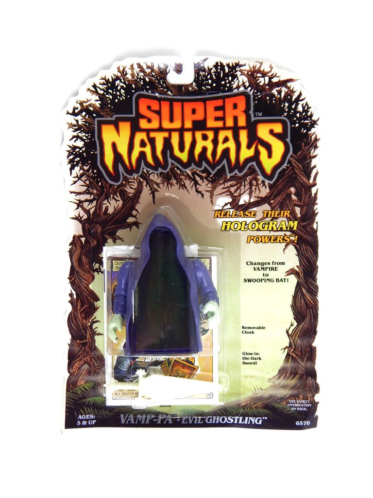 Vintage 1986 Tonka Super Naturals Vamp Pa Evil Ghostling Hologram Action Figure
