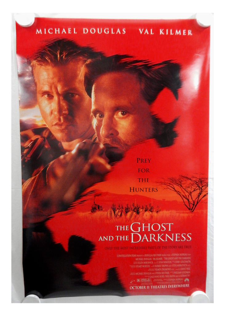 Vintage 1996 The Ghost and the Darkness Two Sided Original Advance Movie Theater Poster