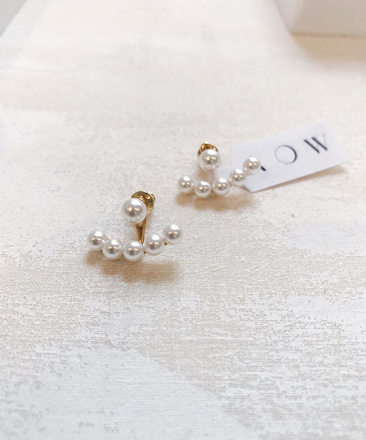 Drop Pearl Ear Jackets - As One Weds