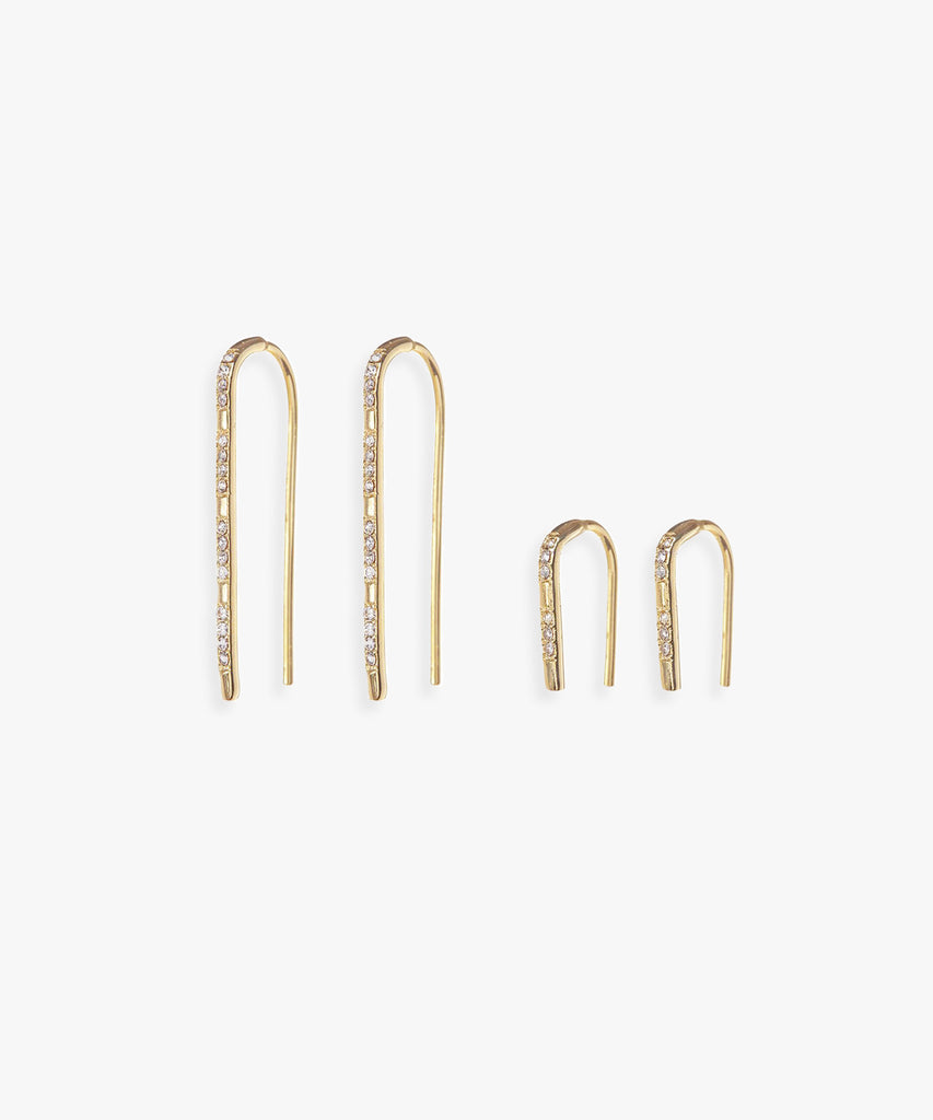 Scattered Pave Hooks - As One Weds