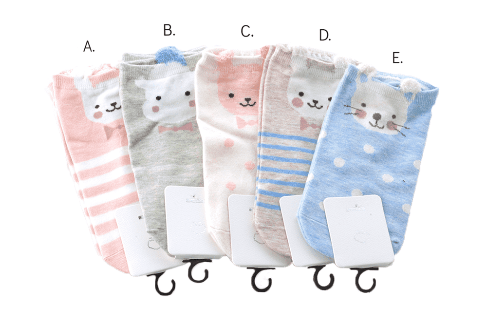 Stripes and Dots Critter Socks, EVES
