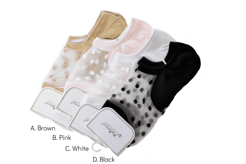 Princess Sheer Polka Fashion Socks, EVES