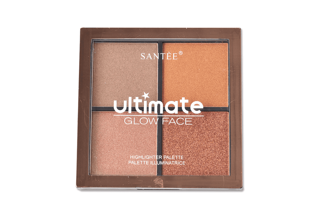 Santee Ultimate Glow Face 458 - 4 Shade Contour Palette, COSMETIC
