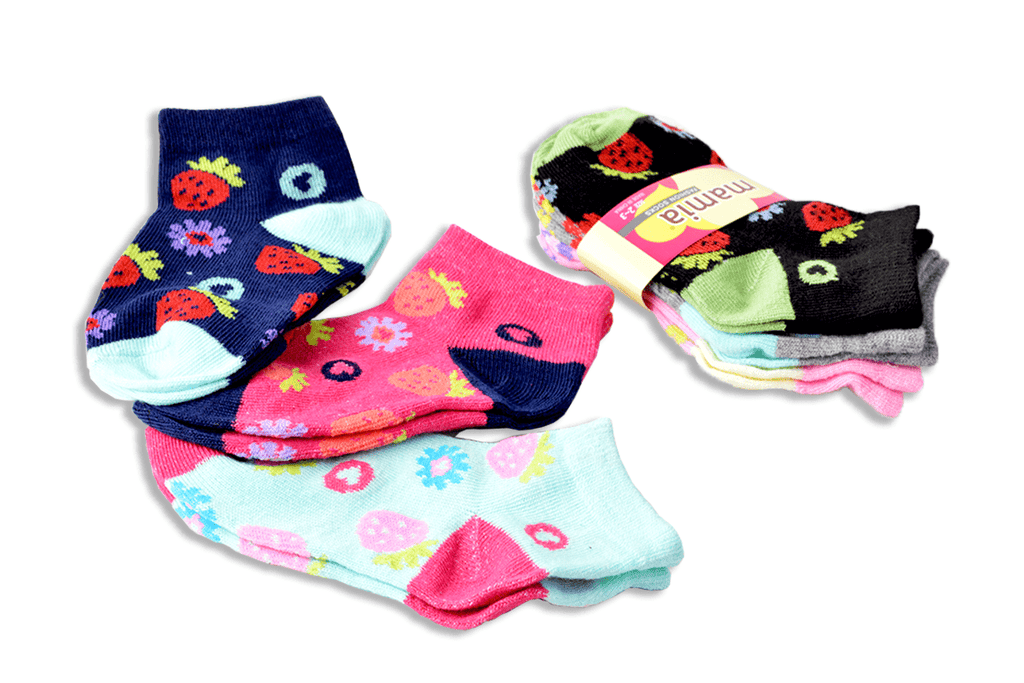 Mamia Strawberry Girls Toddler Socks, EVES