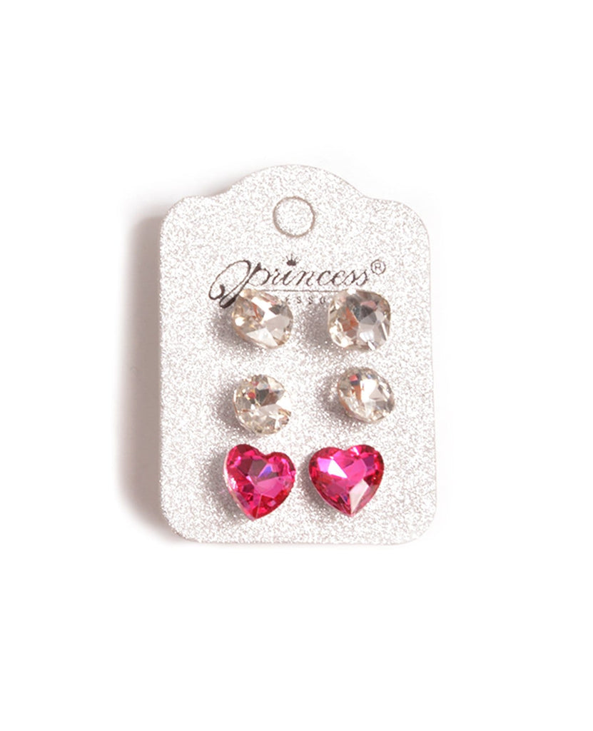Clear Plastic Stone Earrings