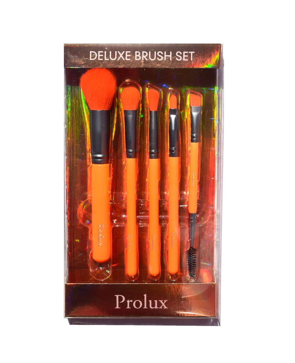 Prolux Deluxe Brush Set- Orange Neon