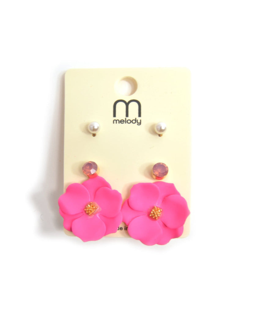 Pansy Flower Earring Set