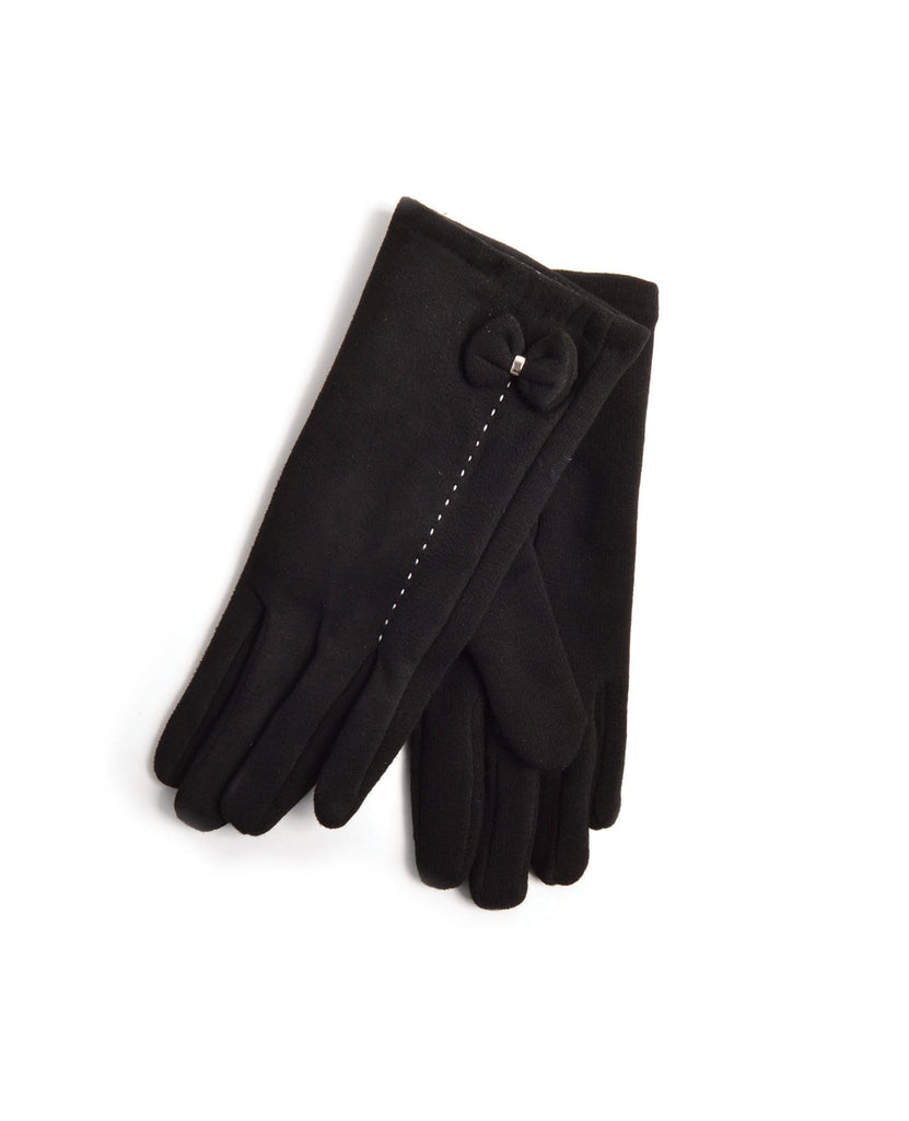 Ribbon Suede Winter Gloves