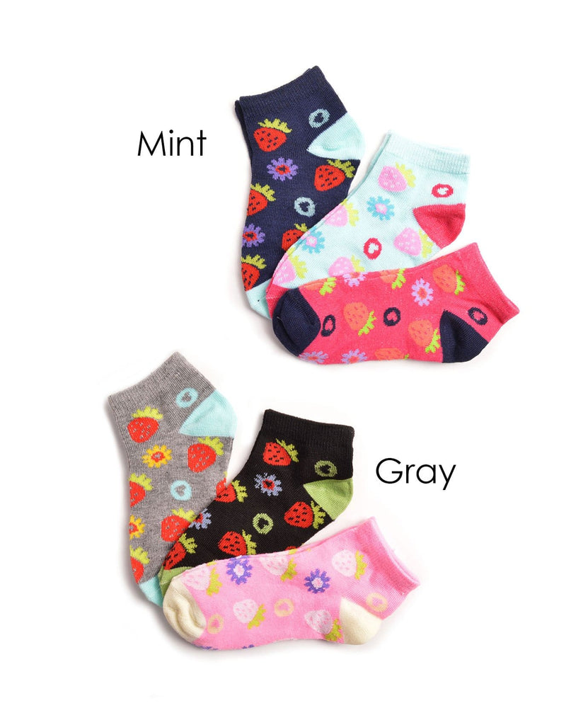 Mamia Strawberry & Flowers Girl's Socks