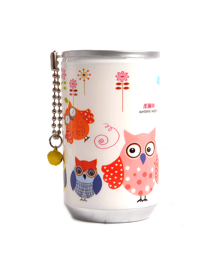 Soda Pop Can Wet Wipes- Owl Party, Accessories