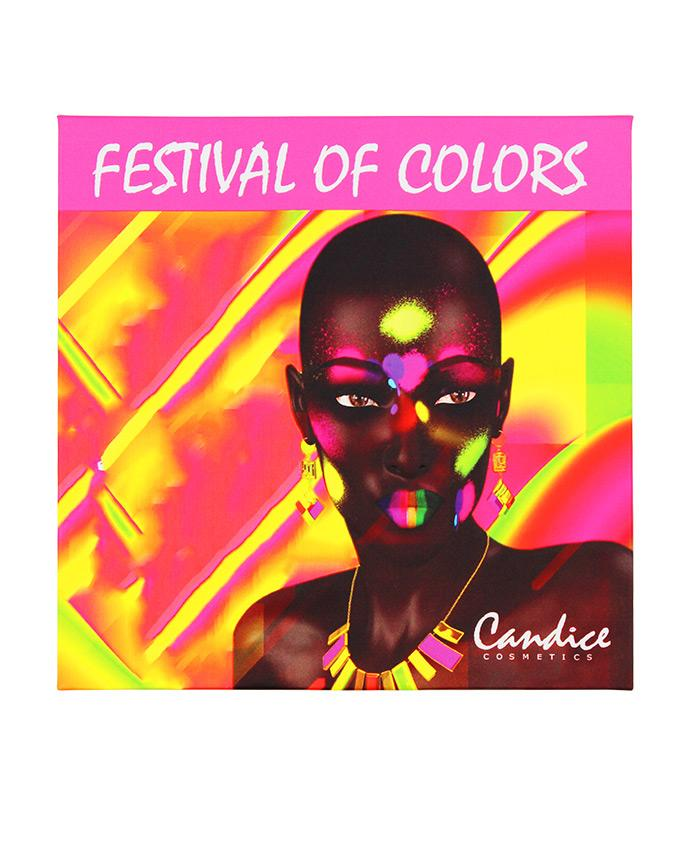 Candice Festival Of Colors- 9 Shade Eyeshadow Palette