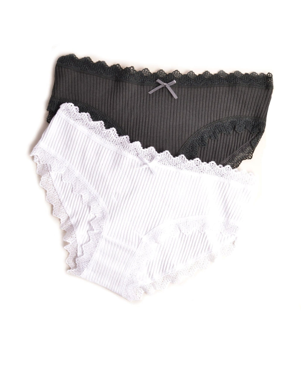 Vision Intimates Stripes & Lace Hipster Panty