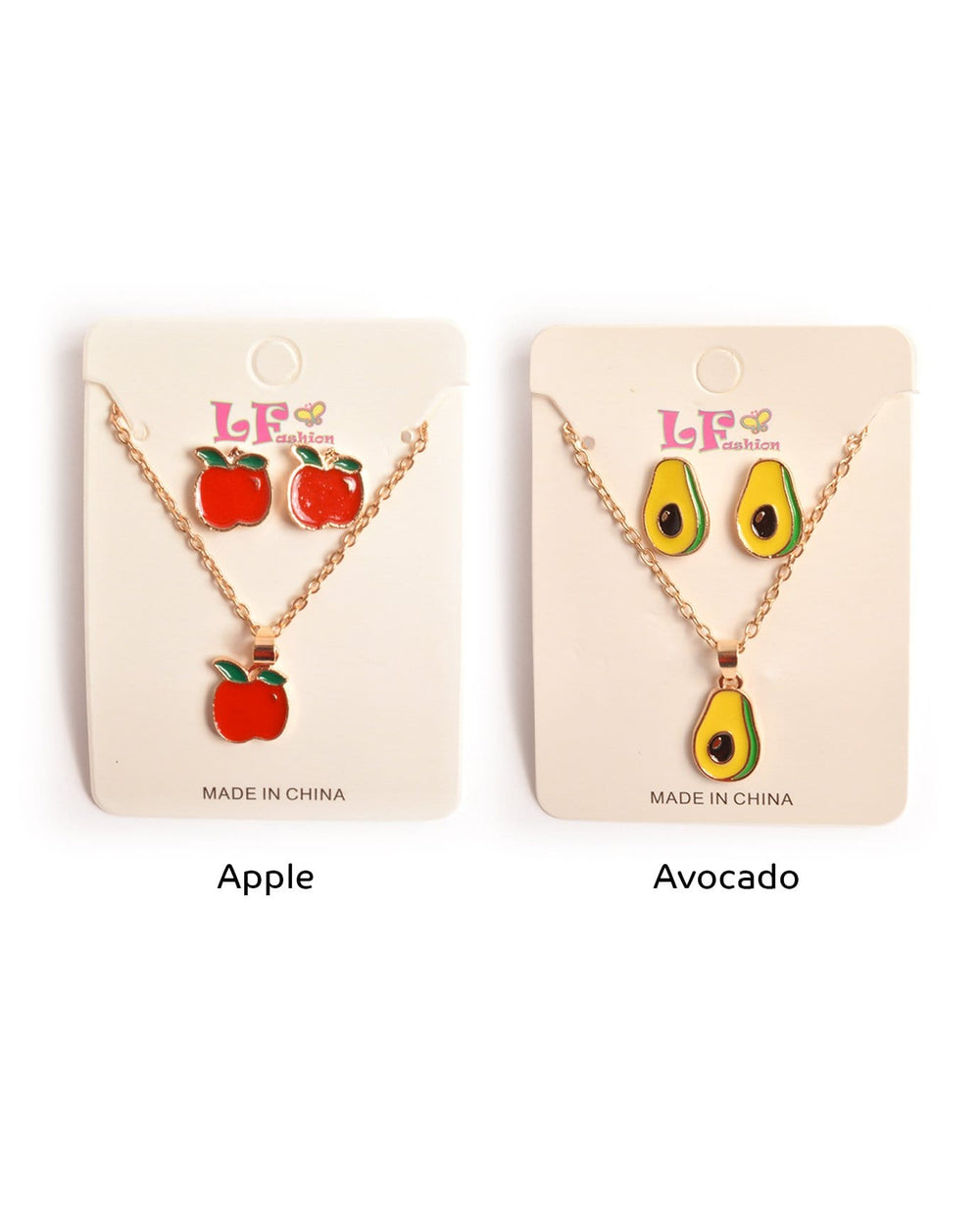 Eat Healthy Kids Necklaces Set