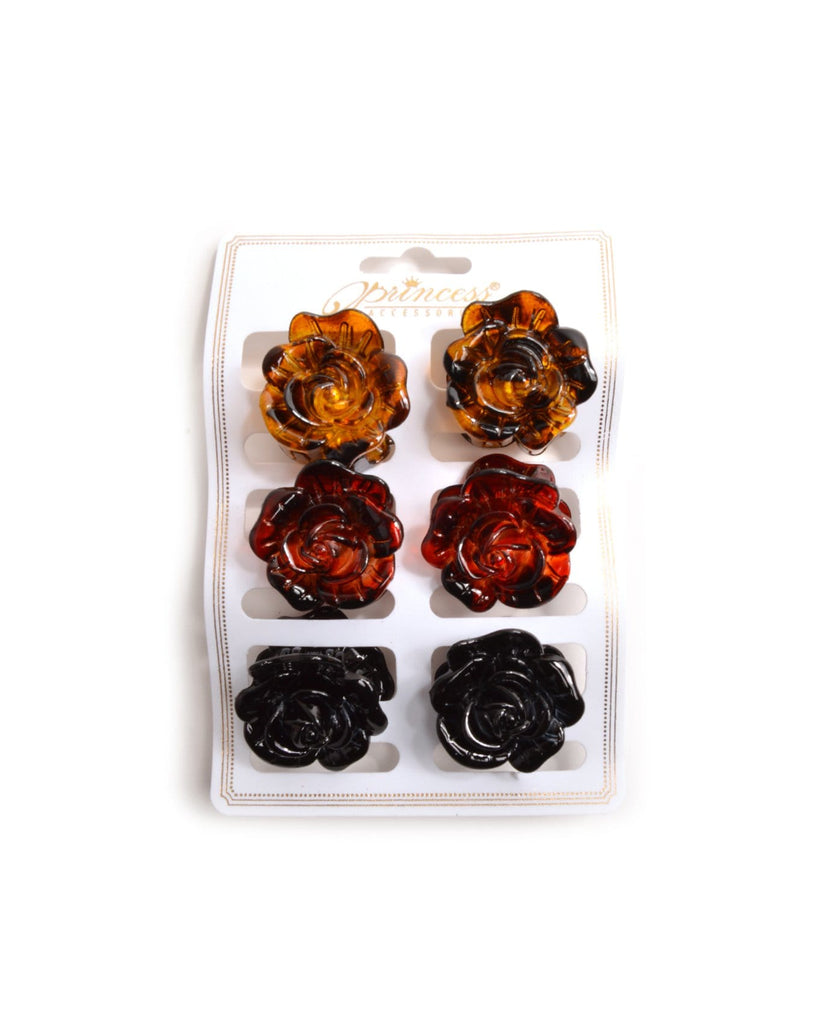 Small Rose Mini Hair Clips